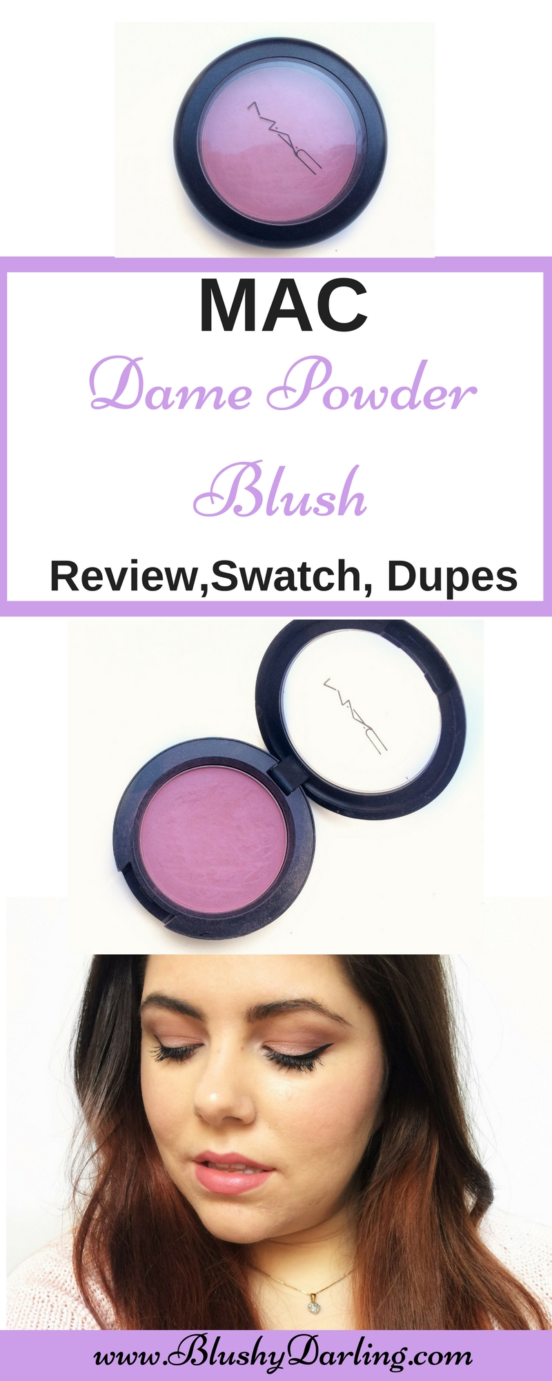 MAC Dame Powder Blush Review dupe swatch