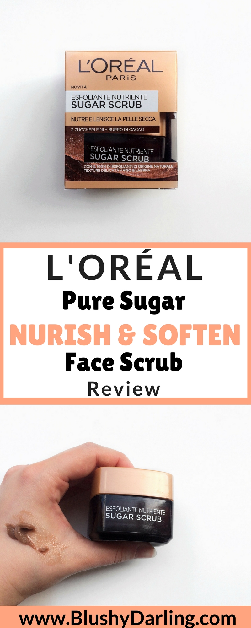 L'Oréal Pure Sugar Nurish & Soften Face Scrub