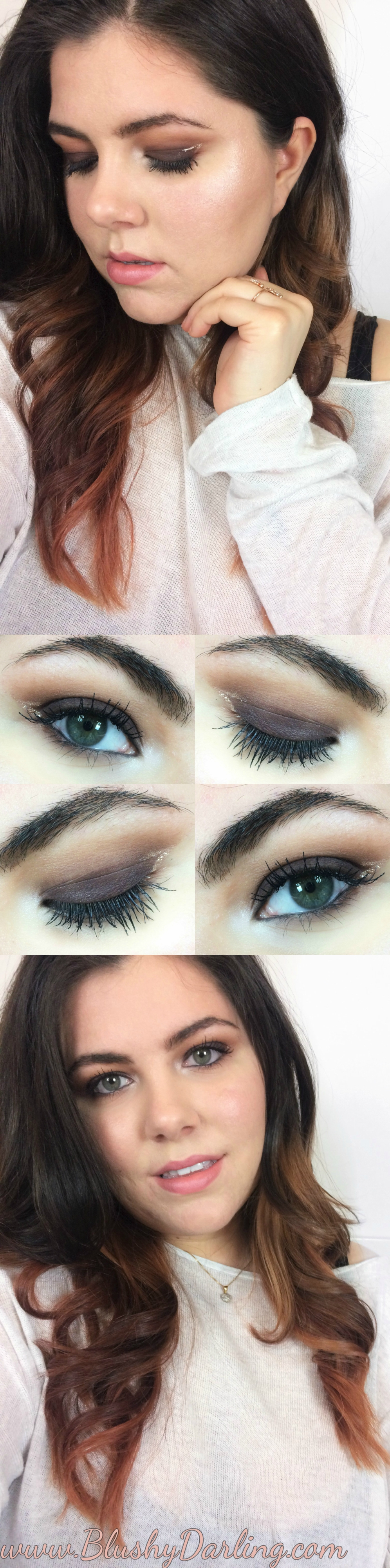 Learn how to create this warm toned smokey eye using the Naked Heat, grafic glittery liner and nude lips perfect for a fun festival or a night out