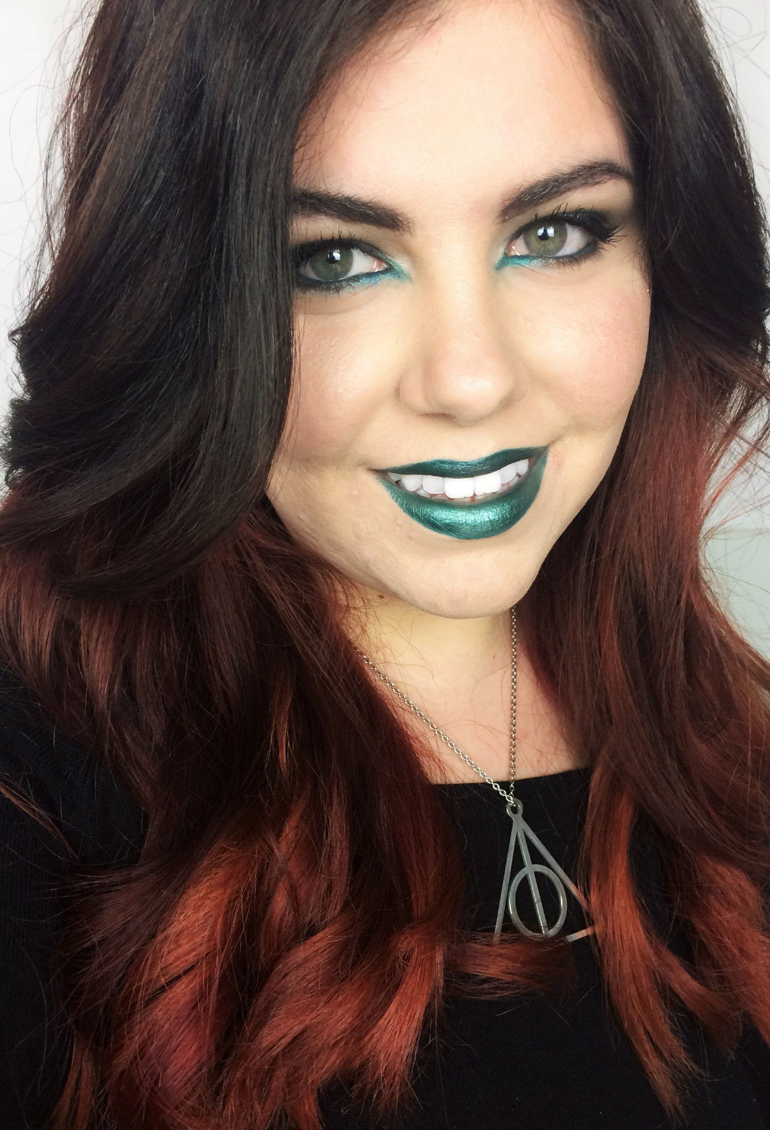 Green and Silver Slytherin Snake Inspired Look [Click to Read More]