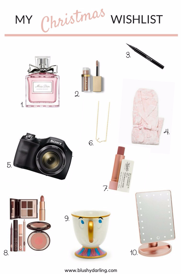 It's usually really easy to by for me: anything rose gold, pink, disney or fuzzy I'down for it. So if you are looking for a girly, homebody make up lover christmas present check out my christmas wish list for this year it's the perfect gift guide for every girl.