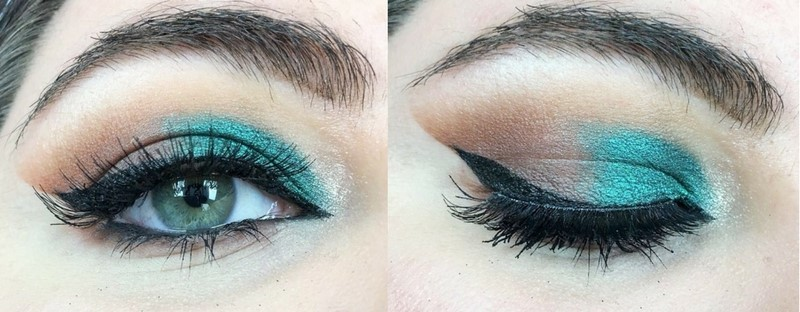 Emerald Green Arabic Cut Crease (13)