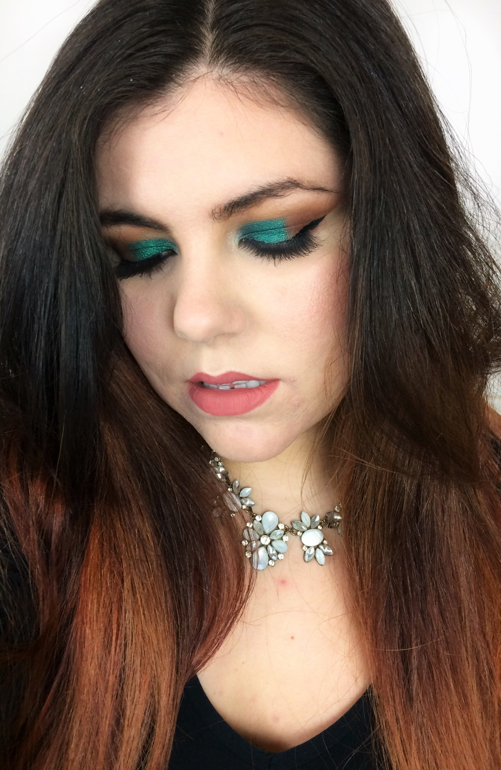 Emerald Green Arabic Cut Crease (7)