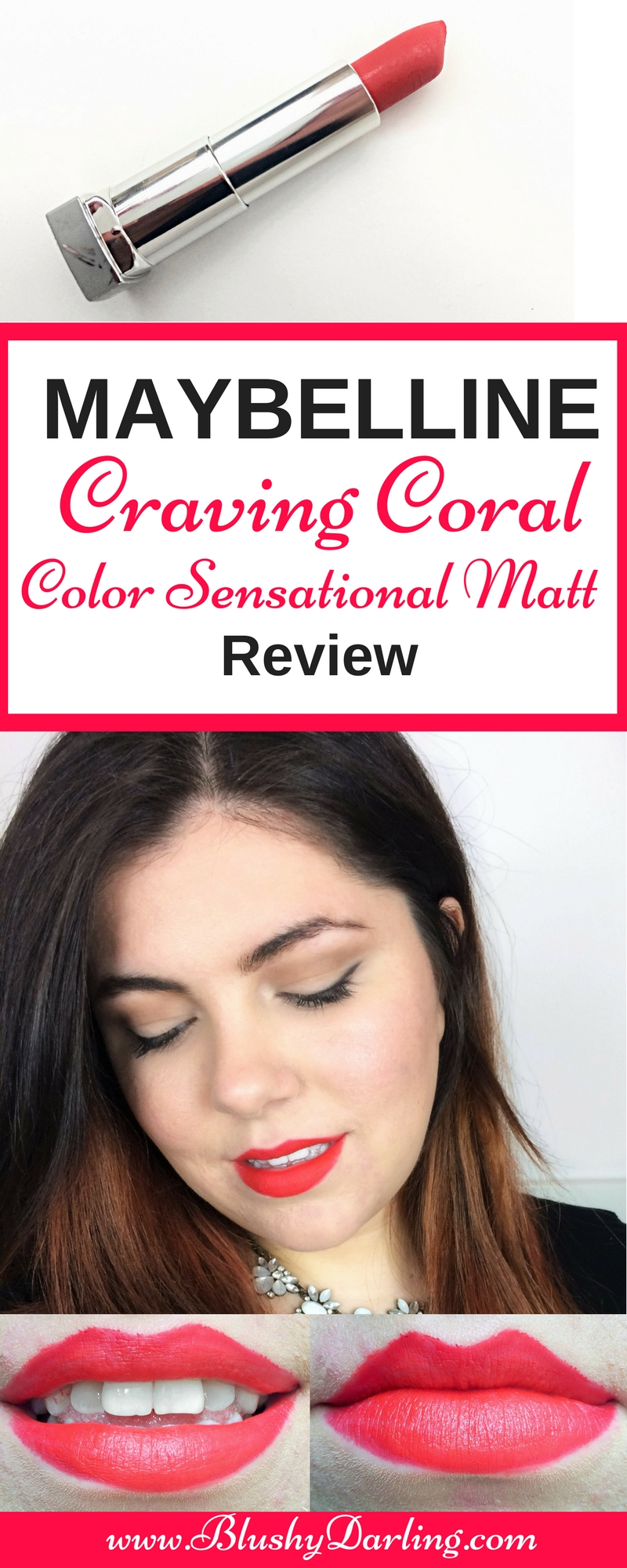 Maybelline Colour Sensational Matte Craving Coral (16)