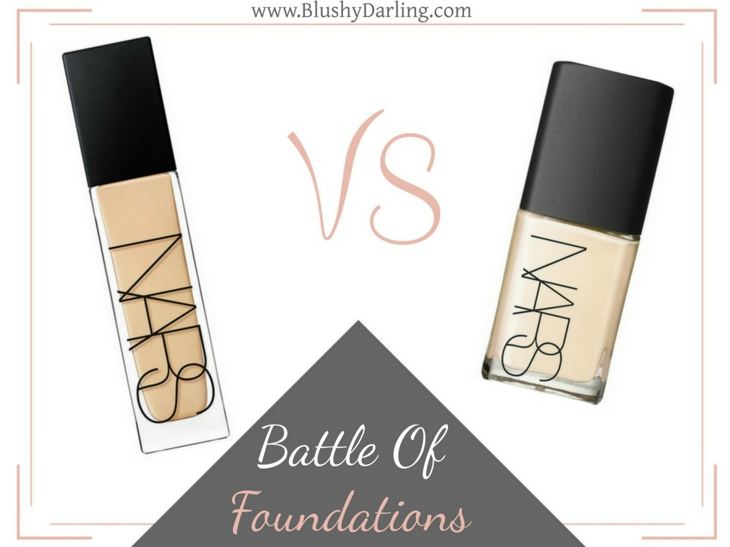 NARS Natural Radiant Longwear Foundation VS Sheer Glow