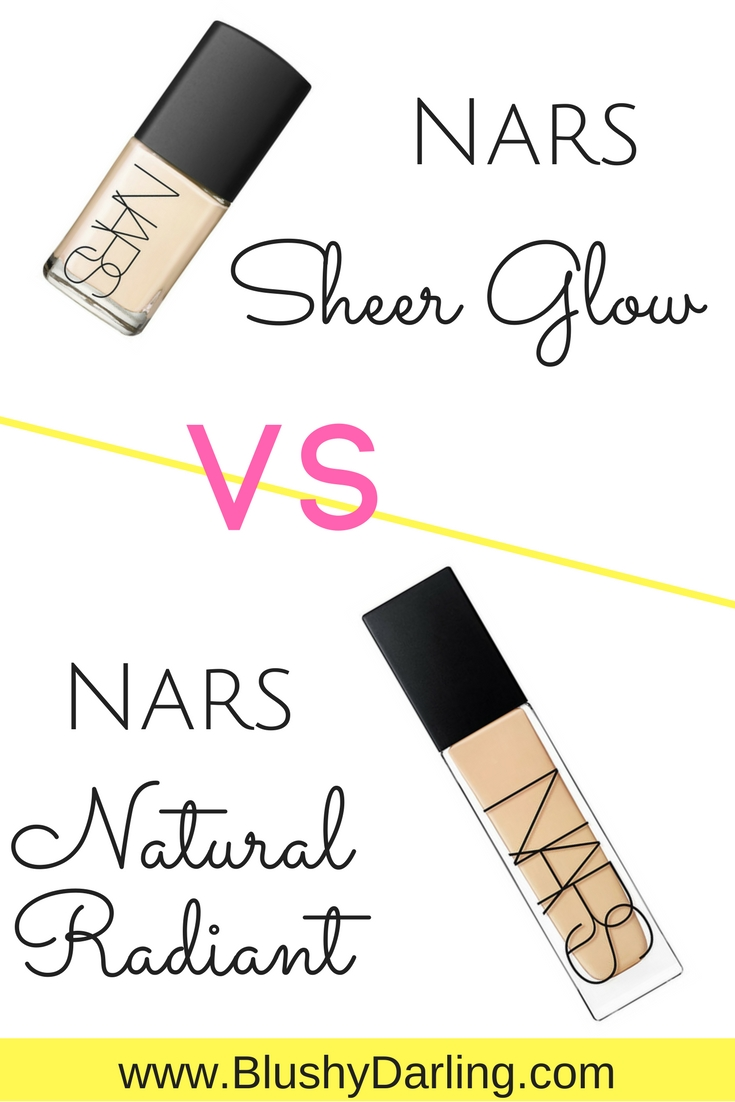 Full day wear test of the NARS Natural Radiant VS Sheer Glow Foundation, which one is better for oily skin?