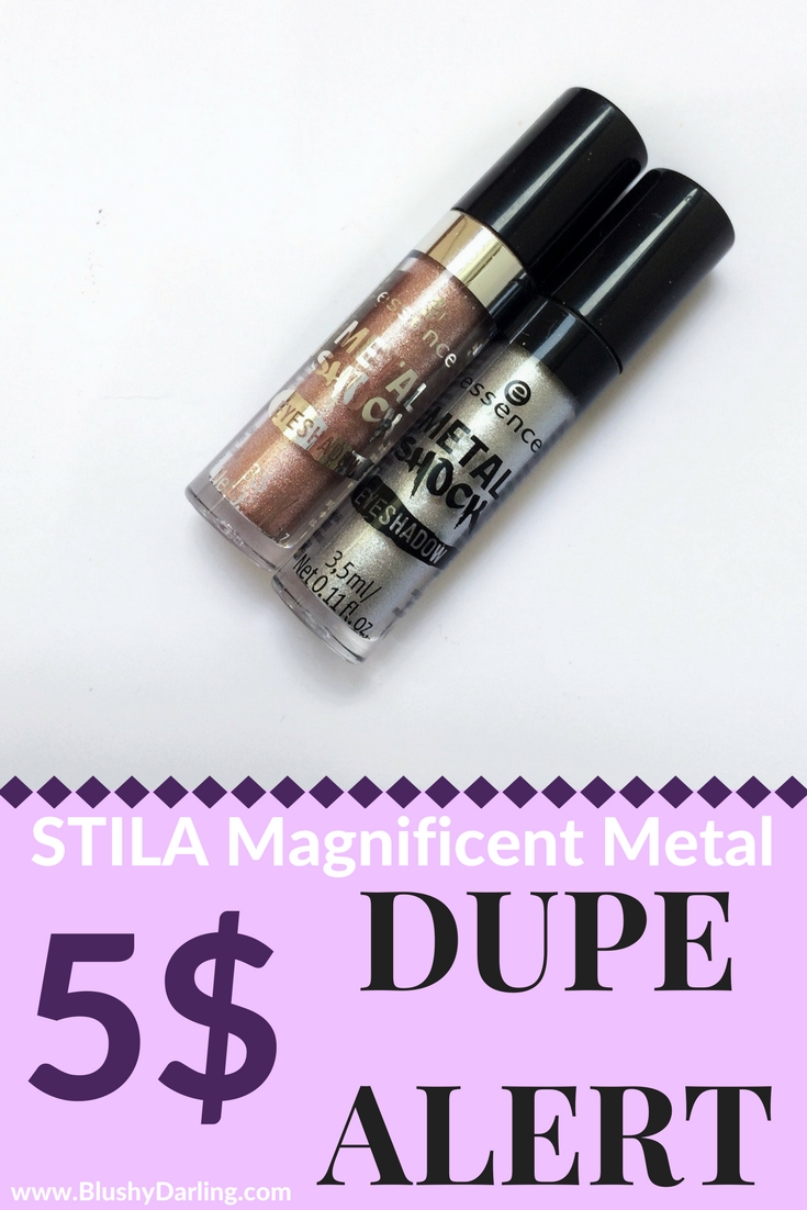 Looking for a dupe for the stila magnificent metals eyeshadows? These essence make up Metal Shock are amazing and for less than 5$! Check the review now