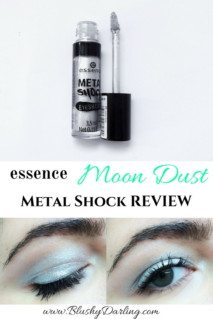 Essence Metal Shock Moon Dust Review. #metallic #eyeshadow #makeup