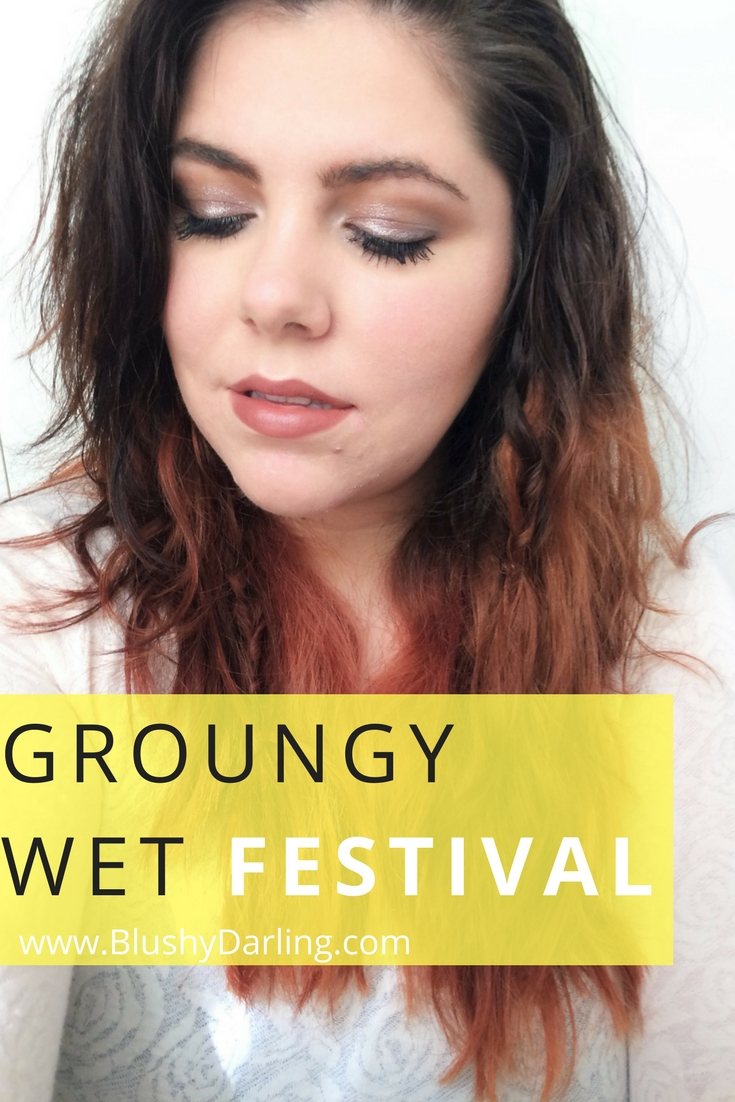 How to get this glossy festival look. Grounge 90's make up. Wet lids look