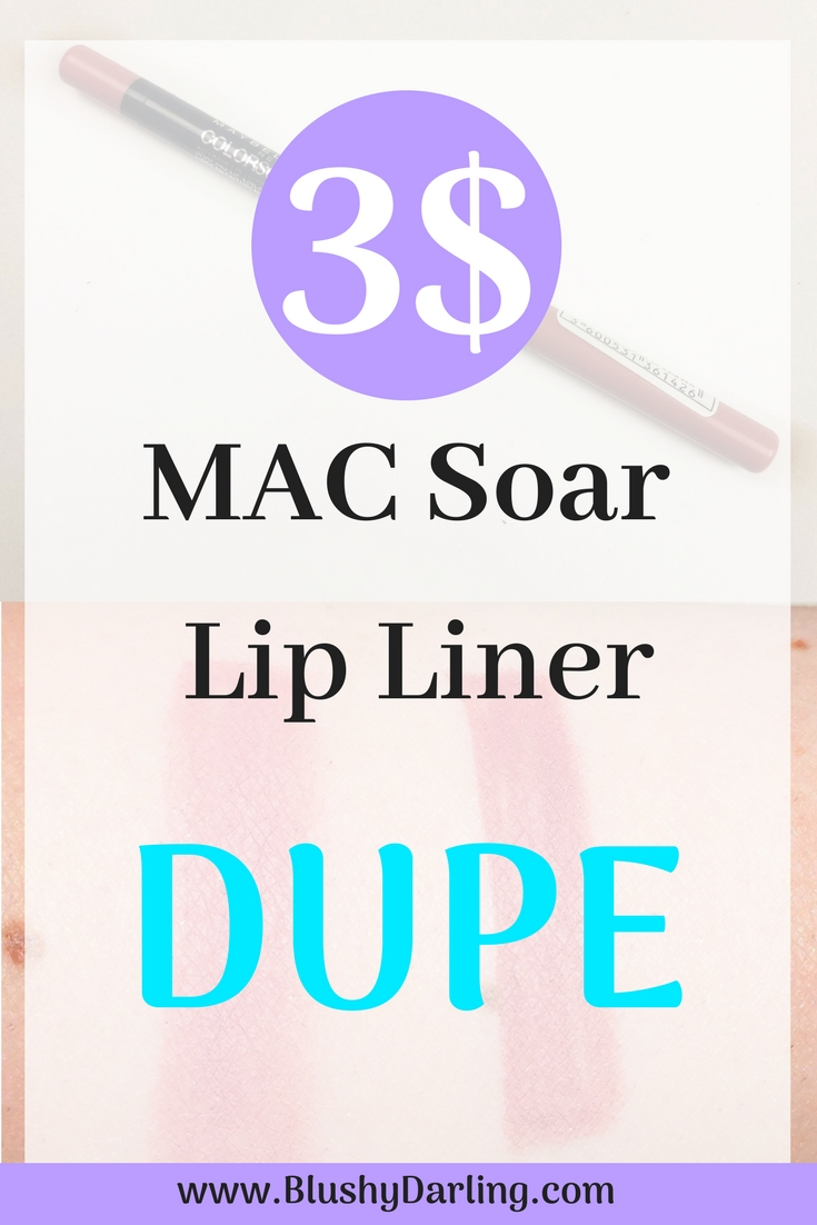 SUPER Affordable DUPE for Kylie Jenner's favourite MAC Lip Liner! Get the look for less. Soar Lip Liner dupe. Maybelline Review