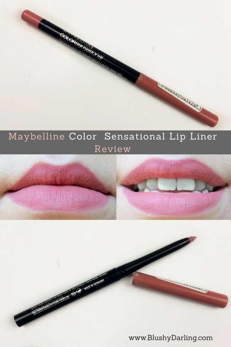 Maybelline Dusty Rose Color Sensational Shaping Lip Liner. Sharing with you my review of this drugstore lip liner.