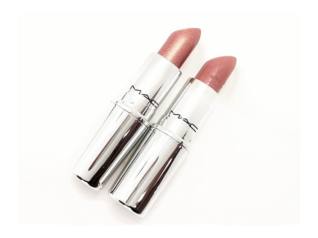 Review MAC Pretty Shiny Things A Wink Of Pink and Babetown Lipstick