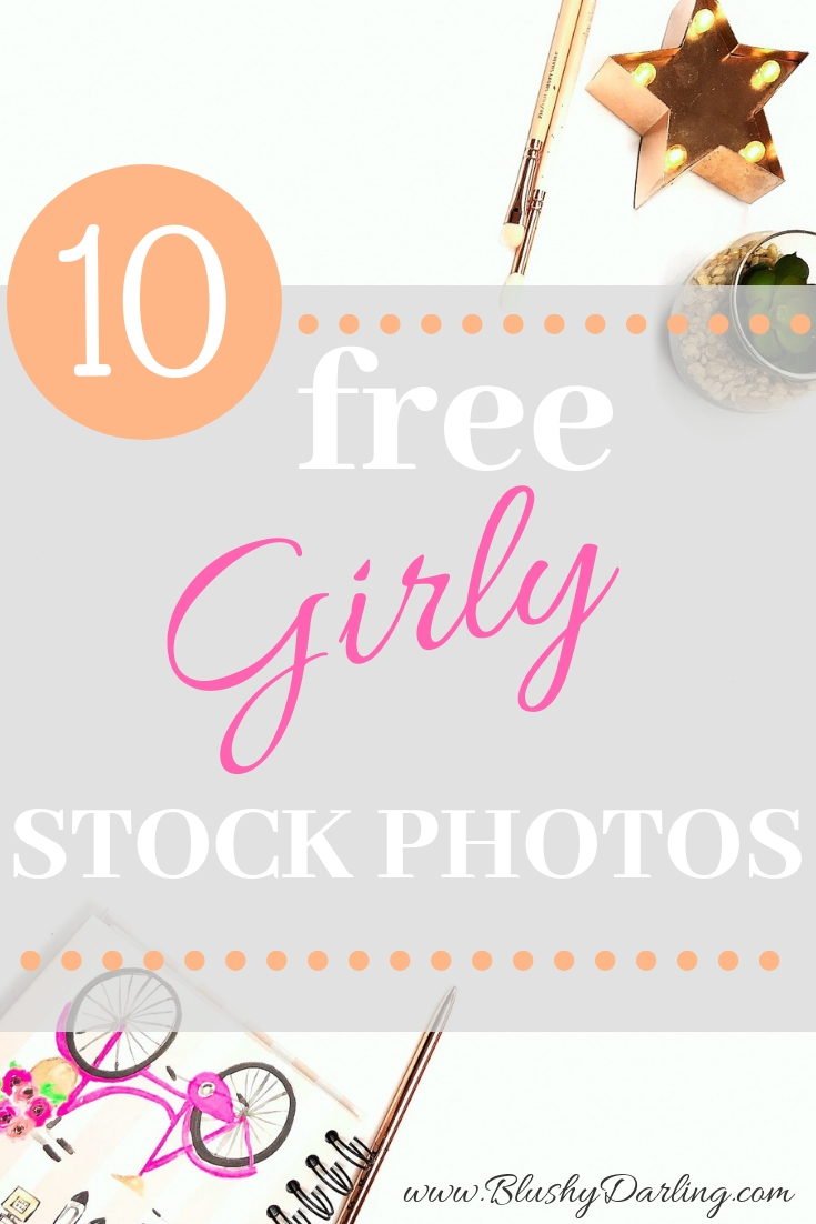 Free feminine styled stock photo resources + girly stock photos for your blog