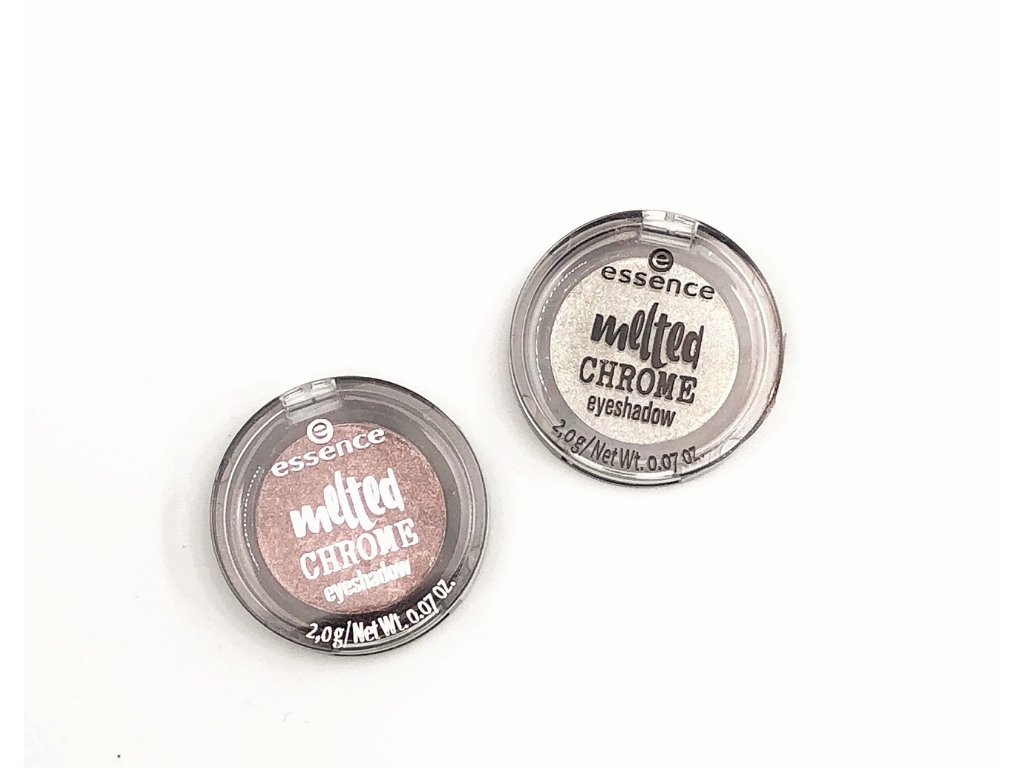 Essence Zinc About You (01), Lead Me (05) Melted Chrome Eyeshadow | Review