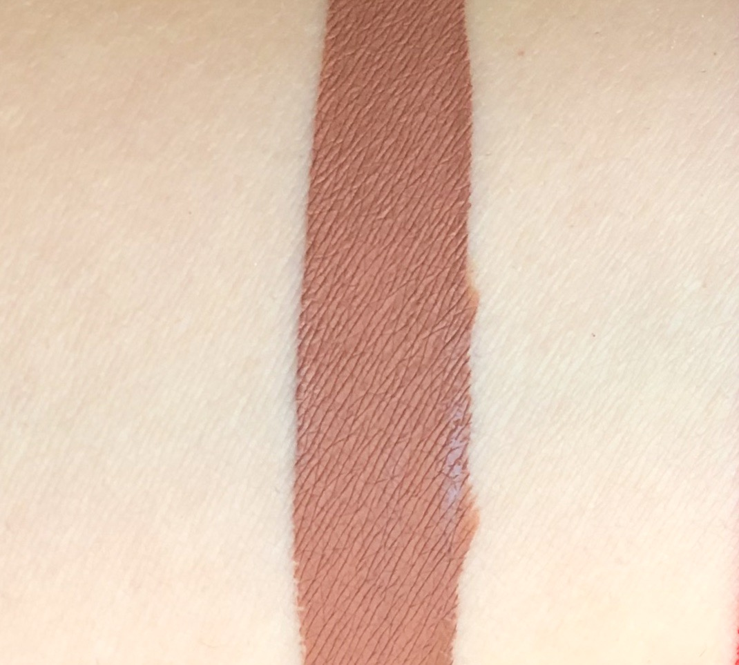 Swatch of Essence Colour Boost Mad About Matte Liquid Lipstick in Dusty Romance