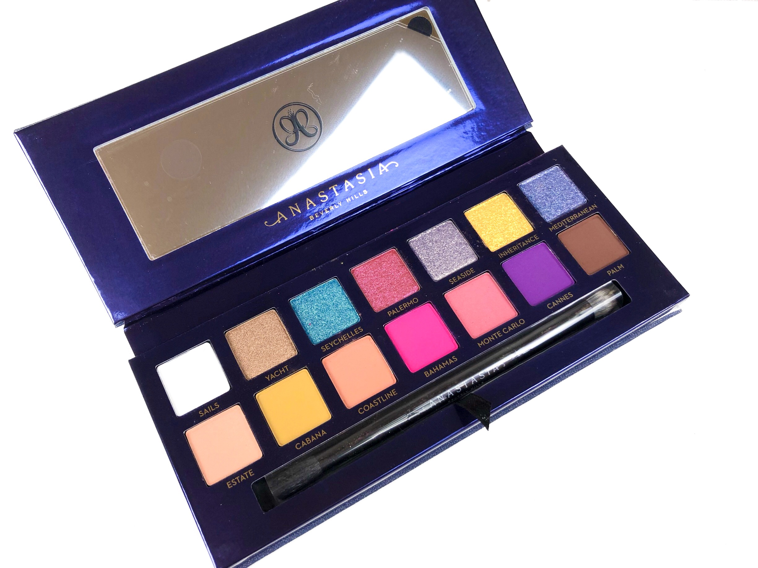 Pigmented eyeshadow colors in the Anastasia Beverly Hills Riviera palette