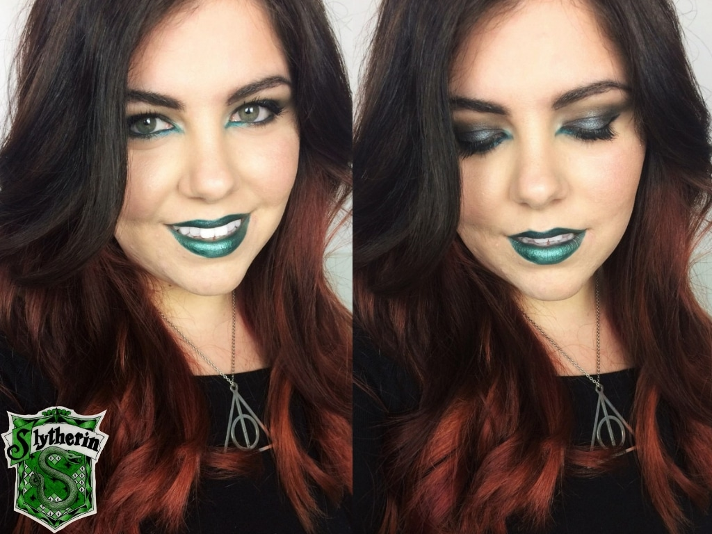 Halloween Slytherin Snake #MakeupMonday