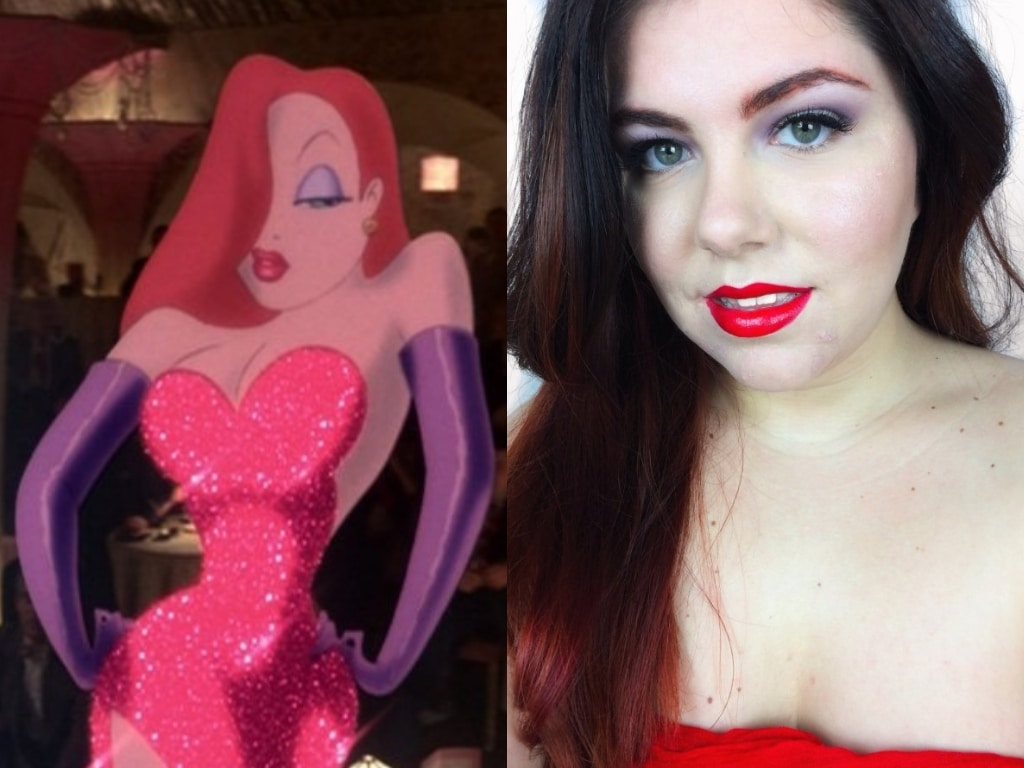 Halloween Jessica Rabbit #MakeupMonday