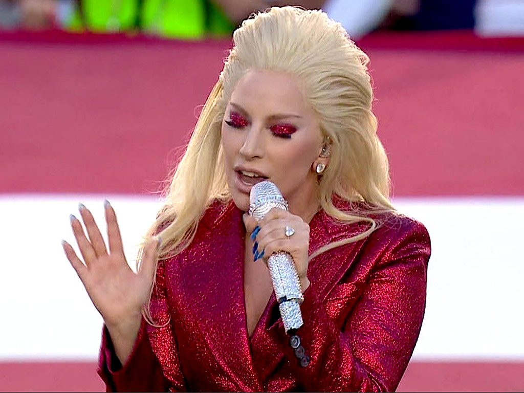 Lady Gaga al 2016 Superbowl