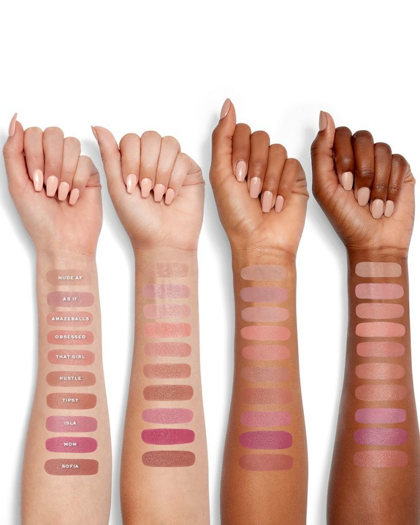 Jaclyn Cosmetics Lipstick Swatches