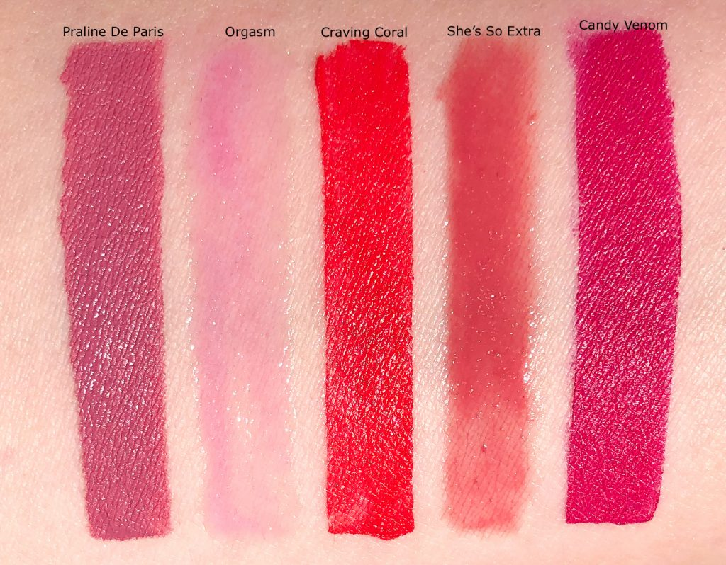 Summer Top 5 Lipstick 2019 Swatch