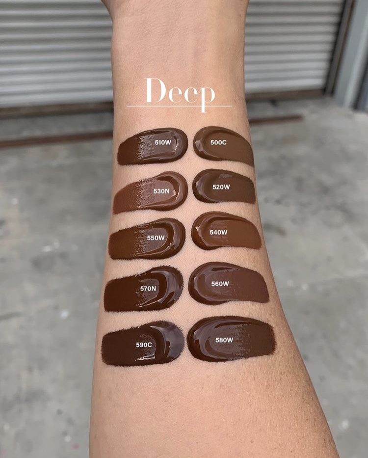 Anastasia Beverly Hills Luminous Liquid Foundation shade range