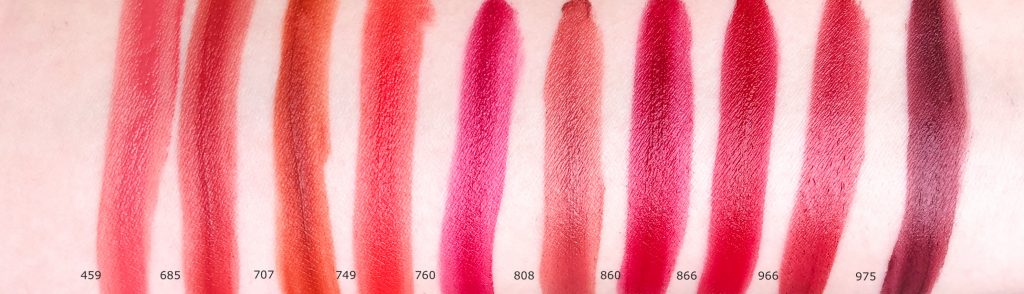 Dior Rouge Dior Ultra Care Liquid Lipstick shade range.