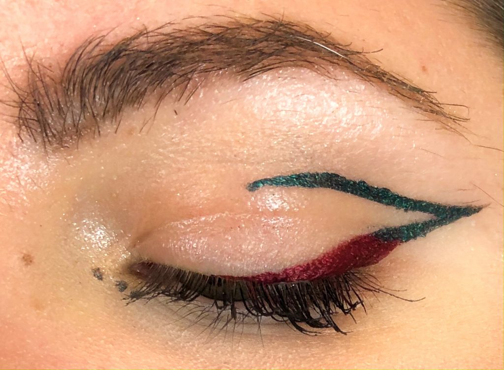 Following The Trends: Coloured Graphic Eyeliner Makeup