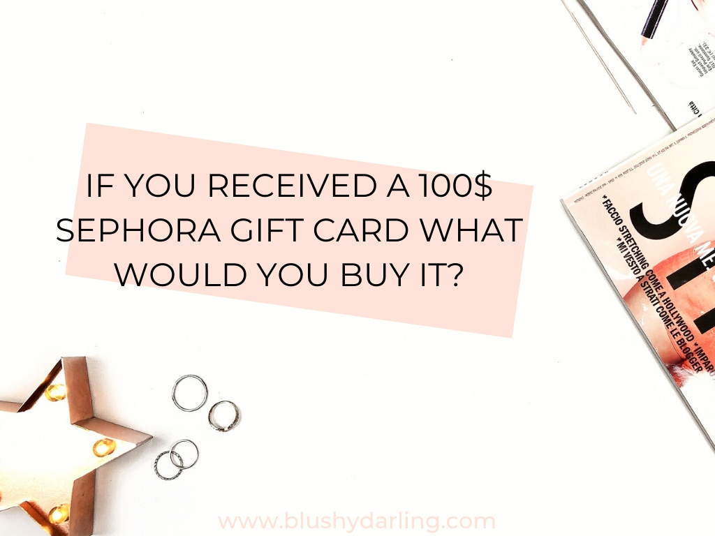 If you get a 100$ giftcard what would you buy it?