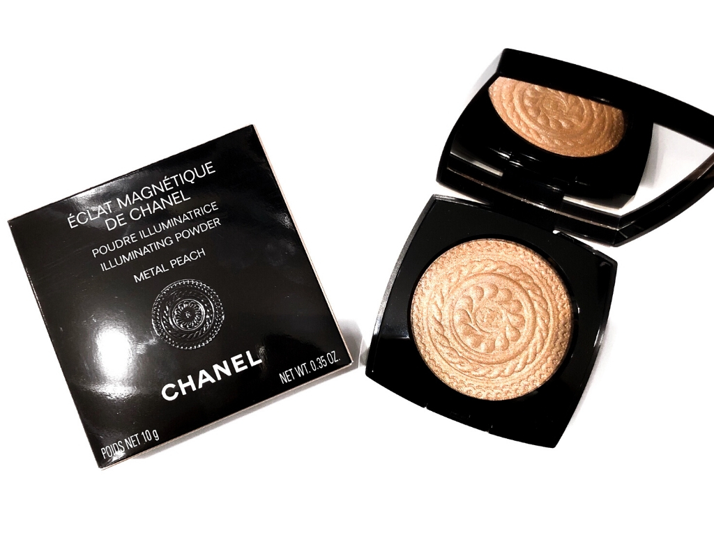 Chanel Metallic Peach Éclat Magnétique De Chanel Illuminating Powder | Review