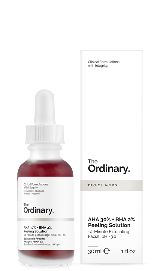 the ordinary must haves and best products AHA 30% + BHA 2% Peeling Solution