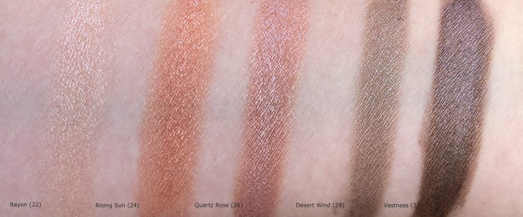 shade swatches of the Chanel Ombre Première Laque Longwear Liquid Eyeshadow
