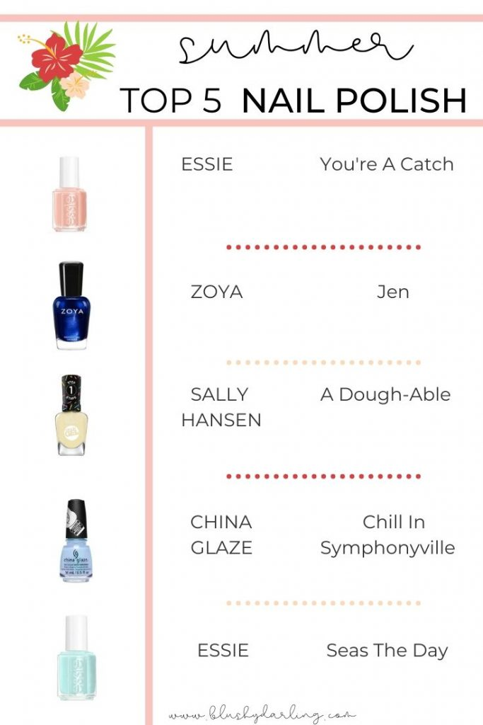 Hi Darlings, today we are back with part two of my TOP 5 for Summer 2020 with today being all about Nail Polish