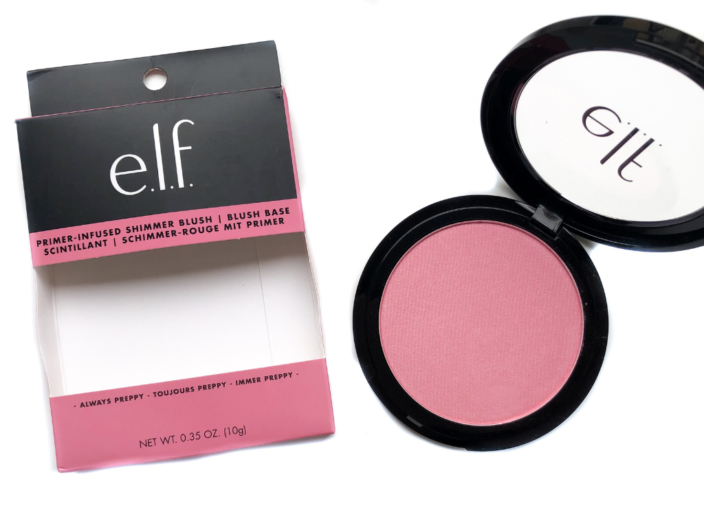 elf Cosmetics Always Preppy Primer-Infused Blush | Review